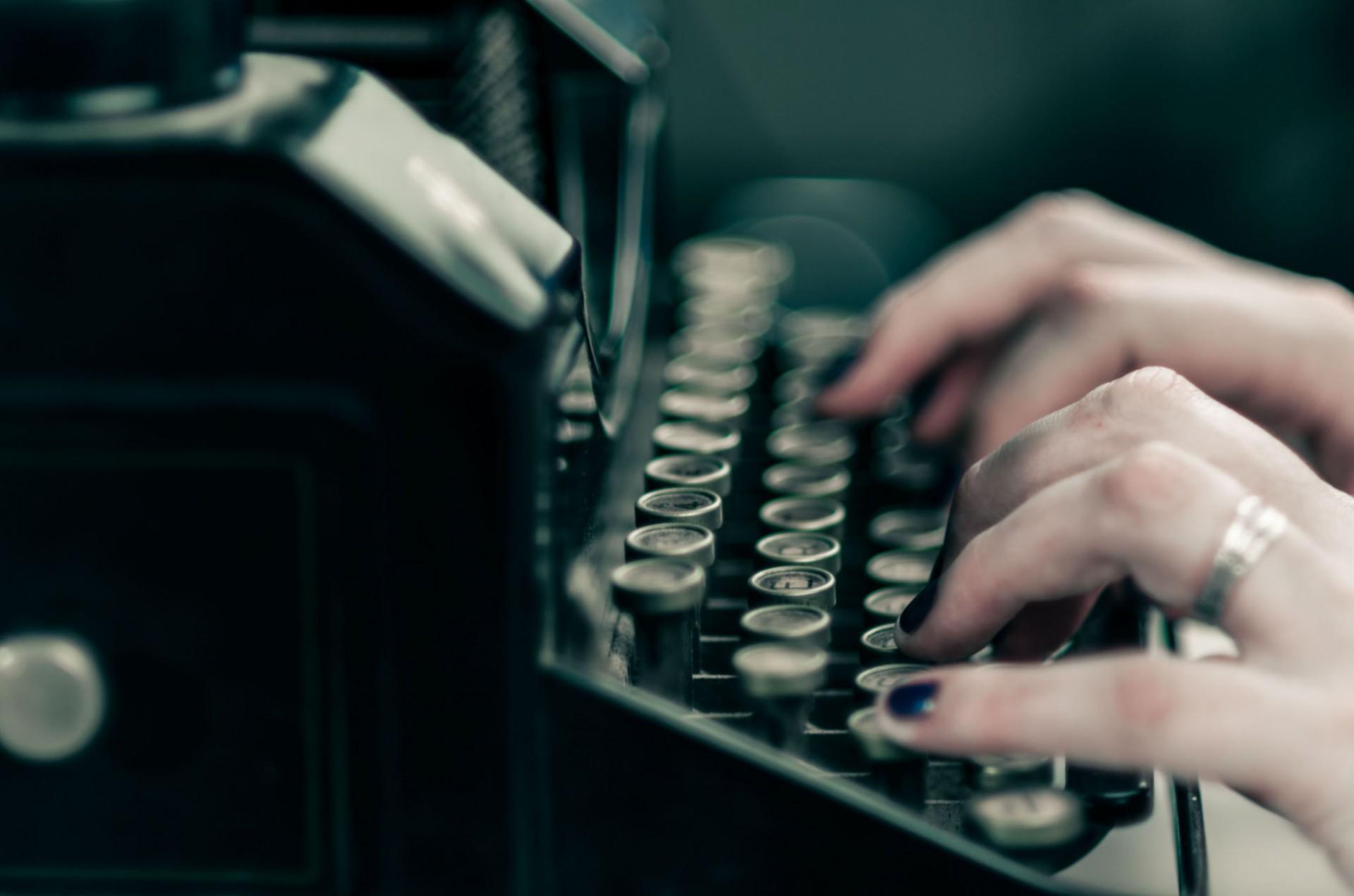Anne van den Berg - typemachine
